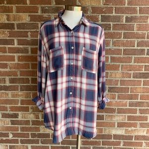 Mossimo Supply Co Plaid Button Down
